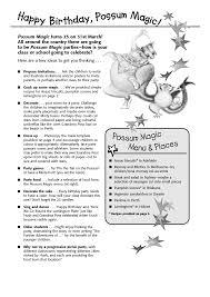 possum magic colouring sheets mem fox pinterest literacy
