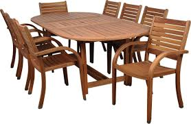 Wood Patio Furniture Sets - amazonia arizona 9 piece wood outdoor dining set with 93