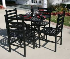 Patio Furniture Set Ansley Luxury 4 Person All Welded Cast Aluminum Patio Furniture