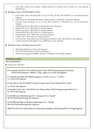 Examples Of Hvac Resumes by Resume Senior Hvac U0026 Plumbing U0026 Qc Engineer