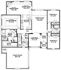Split Level Ranch Floor Plans 4 Bedroom Split Ranch House Plans