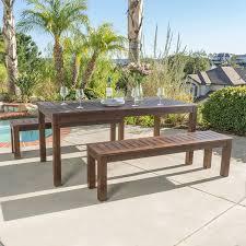 Best Wood Patio Furniture - amazon com marin dark brown acacia wood outdoor picnic set