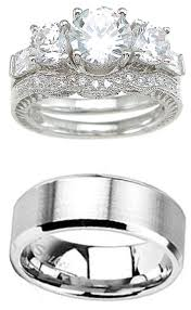 halloween wedding rings his and hers wedding ring set matching wedding bands for him and