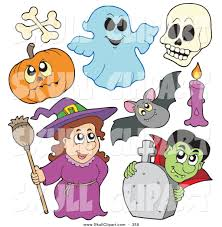 halloween characters clipart royalty free flying bat stock skull designs