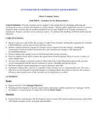 customer service duties for resume   Template Template   Just another WordPress site customer service duties for resume