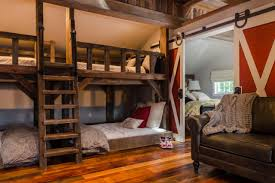 kids rustic room with bunk beds and barn door fresh face space kids rustic room with bunk beds and barn door fresh faces of design