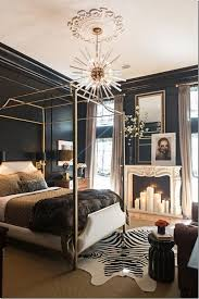 Best BLACK WHITE GOLD BEDROOM Images On Pinterest Home - Black bedroom designs