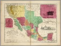 Mexico Map 1800 by Map Of Mexico Texas Old And New California And Yucatan David
