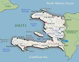 Haiti is on the western end of