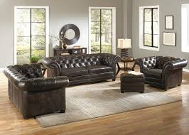 Chesterfield Sofa Leather by Brompton Chocolate Leather Victoria Collection Vintage Sofa
