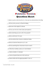 printable patriotic family feud game question sheet patriotic