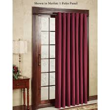 decor interesting interior home decor with pennys curtains maroon penneys curtains with dark wood door casing
