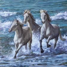 peinture de bord de mer à l u0027huile des chevaux en bord de mer u2014 photo 67108941