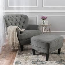 teton grey fabric club chair and ottoman ottomans room and teton grey fabric club chair and ottoman