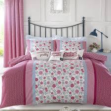 kirstie allsopp leola red u0026 blue floral u0026 gingham 100 cotton king