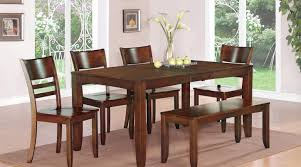 dining room stunning design wood dining table with bench