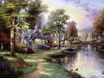 My Free Wallpapers - Artistic Wallpaper : THOMAS KINKADE - Along ...