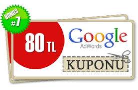 Google dan Bedava 80 TL Değerinde Adwords Kuponu
