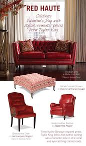 Carolina Leather Sofa by Taylor King Furniture A Valentine U0027s Day Love Affair With Red