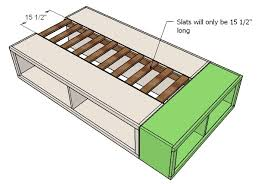 Platform Storage Bed Plans With Drawers ana white build a twin storage captains bed free and easy