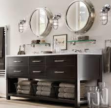 unusual industrial round bathroom mirror ideas for traditional