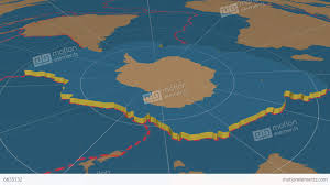Tectonic Plate Map Antarctic Tectonic Plate Solids Stock Animation 6635132