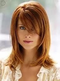 medium to short hairstyle with bangs women medium haircut