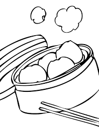 dim sum coloring page handipoints