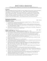 Cover letter sample quality assurance