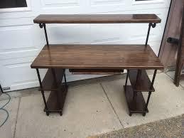 Custom Studio Desks by Hand Made Pipe U0026 Wood Studio Desk By Ks Custom Finish Custommade Com