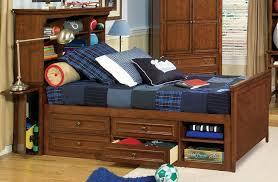 brendan full size bookcase storage bed