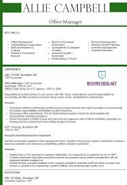 Sample Resume Of Office Administrator by Office Manager Resume 2016 Best Samples