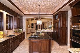 rectangle black granite island top brown wall interior color decor