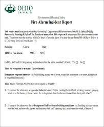 46 incident report formats