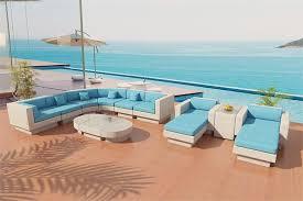 White Wicker Outdoor Patio Furniture by Viro Fiber Sectional Sofa Outdoor Patio Furniture Set 8sw