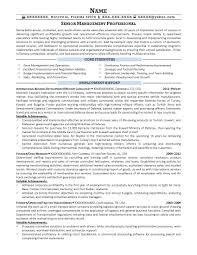 Sample Resume For Senior Manager by Military Transition Resume Samples Resume Prime