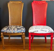 reupholstering dining room chairs diy ideas spray paint and