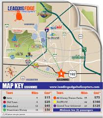 Map Of Downtown Disney Orlando by Leading Edge Helicopter Tours