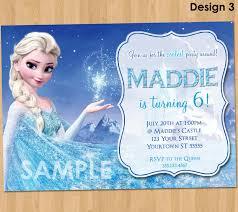 Create Birthday Invitation Card Online Frozen Birthday Invitation Elsa Frozen Invitation