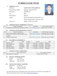 Resume Sample Format For Seaman by Sample Resume For Ojt Deck Cadet Augustais