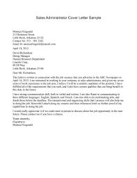 Cover letter sample sales representative