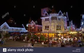 christmas time illumination in the german village of blumenau