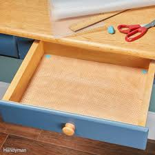 What Is The Best Shelf Liner For Kitchen Cabinets by How To Line Drawers And Cabinets With Shelf Liner Family Handyman