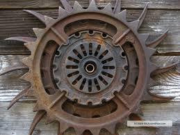steampunk decor iron wheel vtg industrial machine age