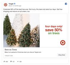 target black friday 2017 deals only in store 55 facebook ads that get the holiday advertising right