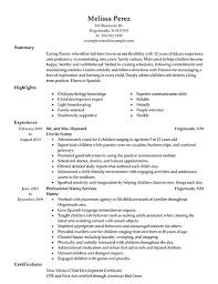 Sample Babysitter Resume by Nanny Resume Samples Haadyaooverbayresort Com