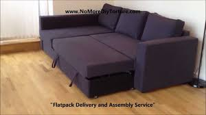 Chaise Lounge With Sofa Bed by Ikea Manstad Corner Sofa Bed With Storage V2 Youtube