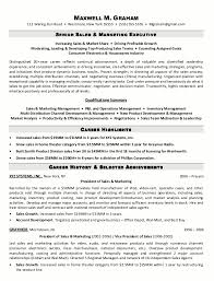 Example Resume  Career History For Sales And Marketing For Best Marketing Resume Samples  Best Binuatan