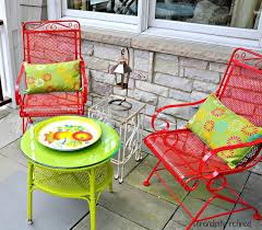 Best  Painted Patio Furniture Ideas On Pinterest Painting - Colorful patio furniture