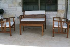 Teak Wood Patio Furniture Set - exterior interesting smith and hawken patio furniture for